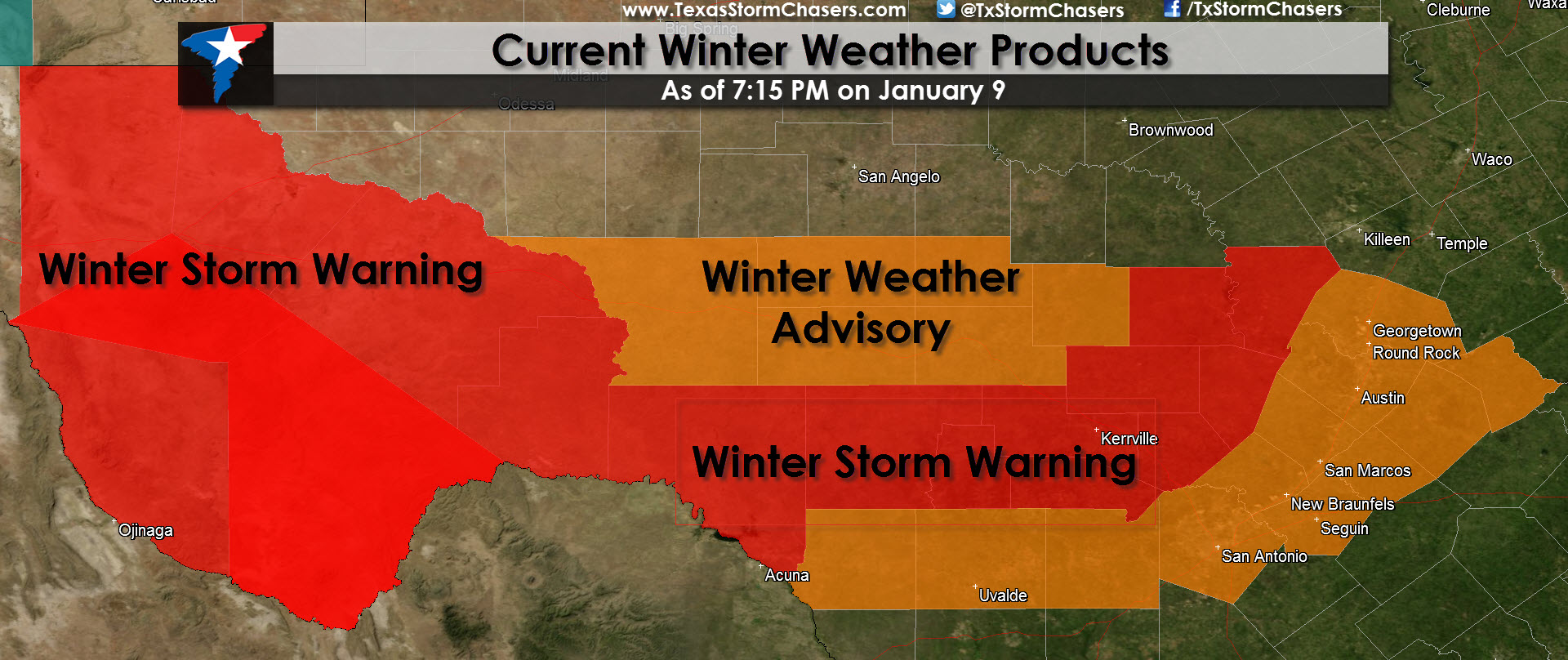 730pm Winter Storm Update Texas Storm Chasers