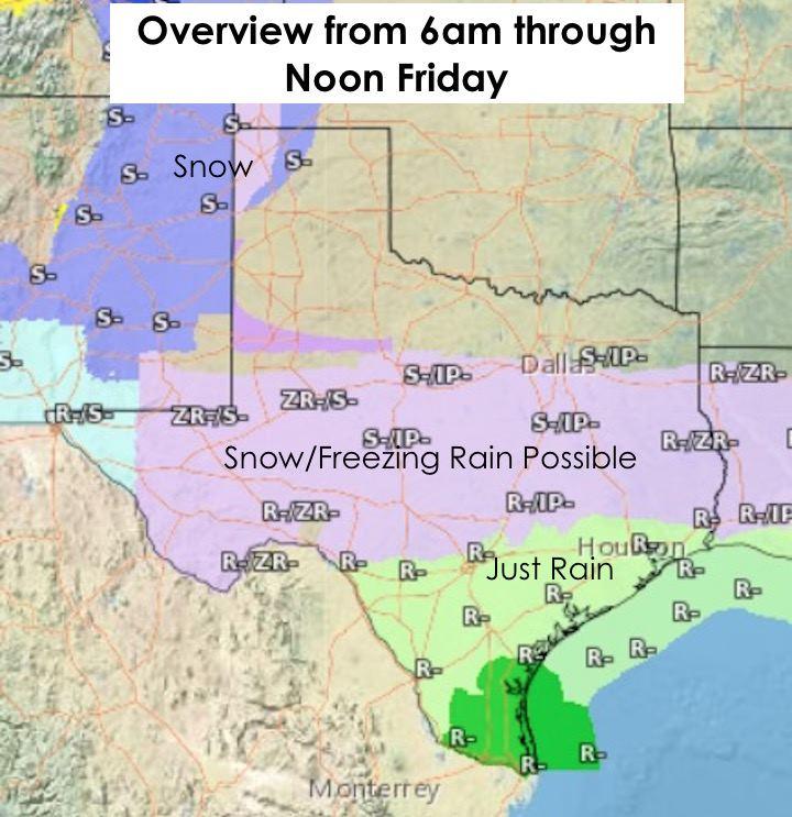 Precip Forecast zone by Noon Friday