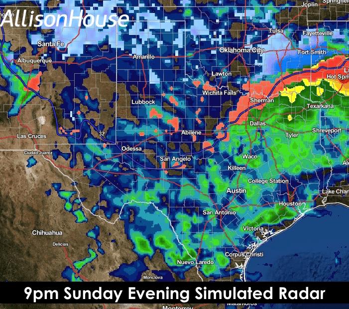 9pm Sunday Sim Radar