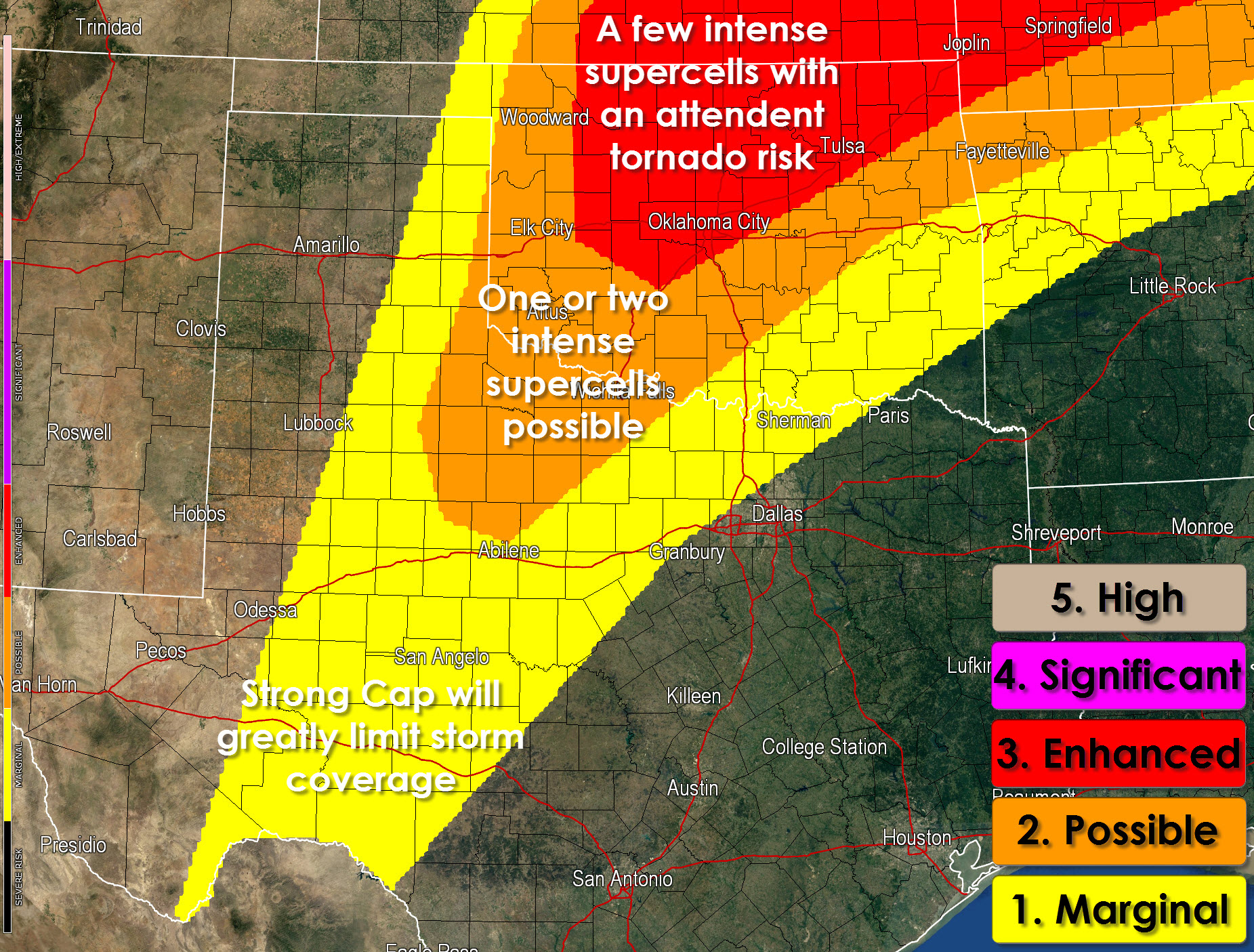 Weather Map Austin.Some Severe Weather Risk Today Texas Storm Chasers
