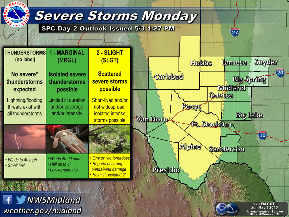 Monday severe outlook MAF