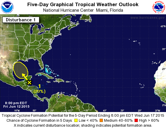5-Day Tropical Weather Outlook and Chance of Development