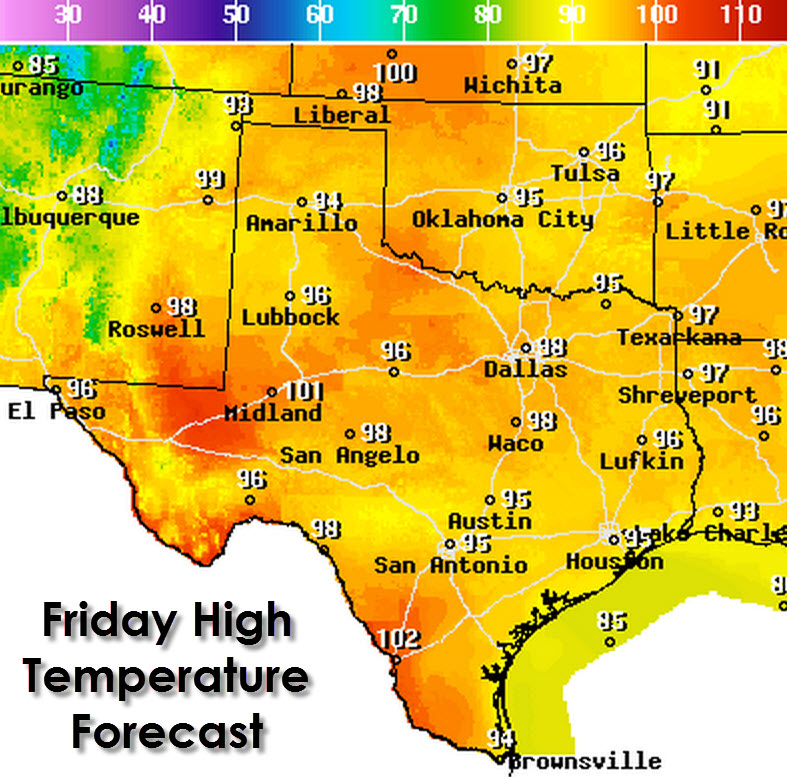 Texas Weather Map Cvln Rp