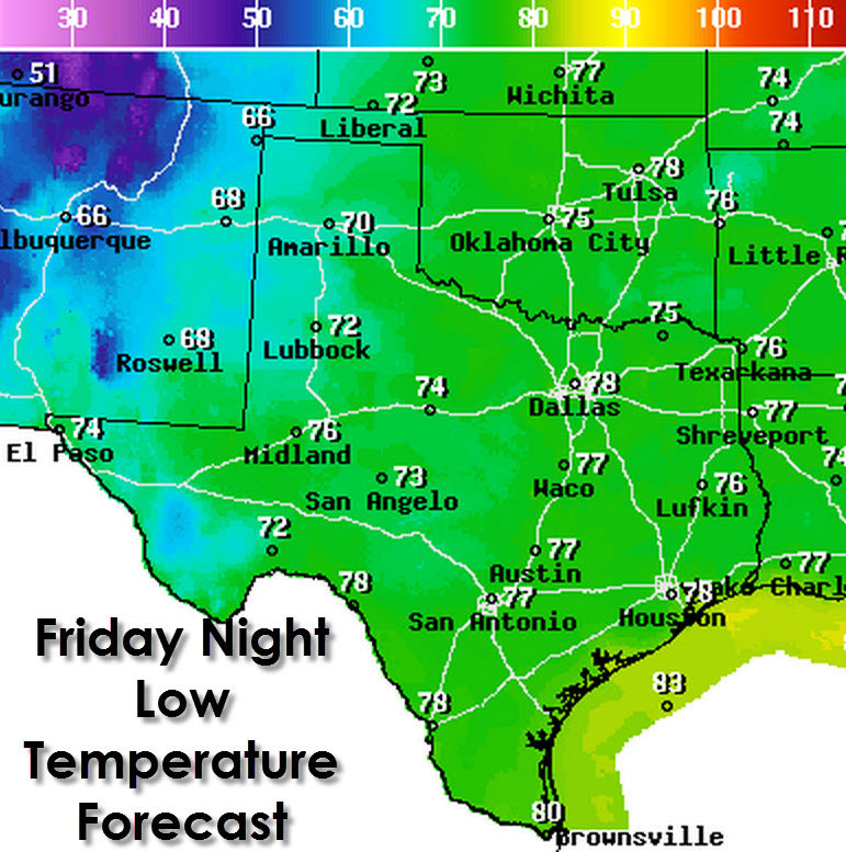Texas Weather Map Forecast