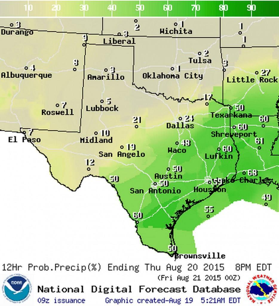 Rain/Storm chances on Thursday