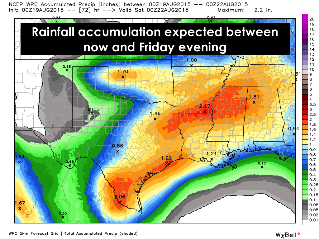 Rainfall thru Friday Evening