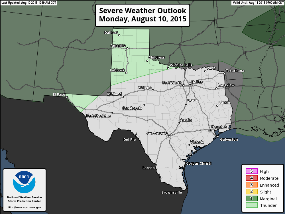 Severe Weather Outlook for Today & Tonight