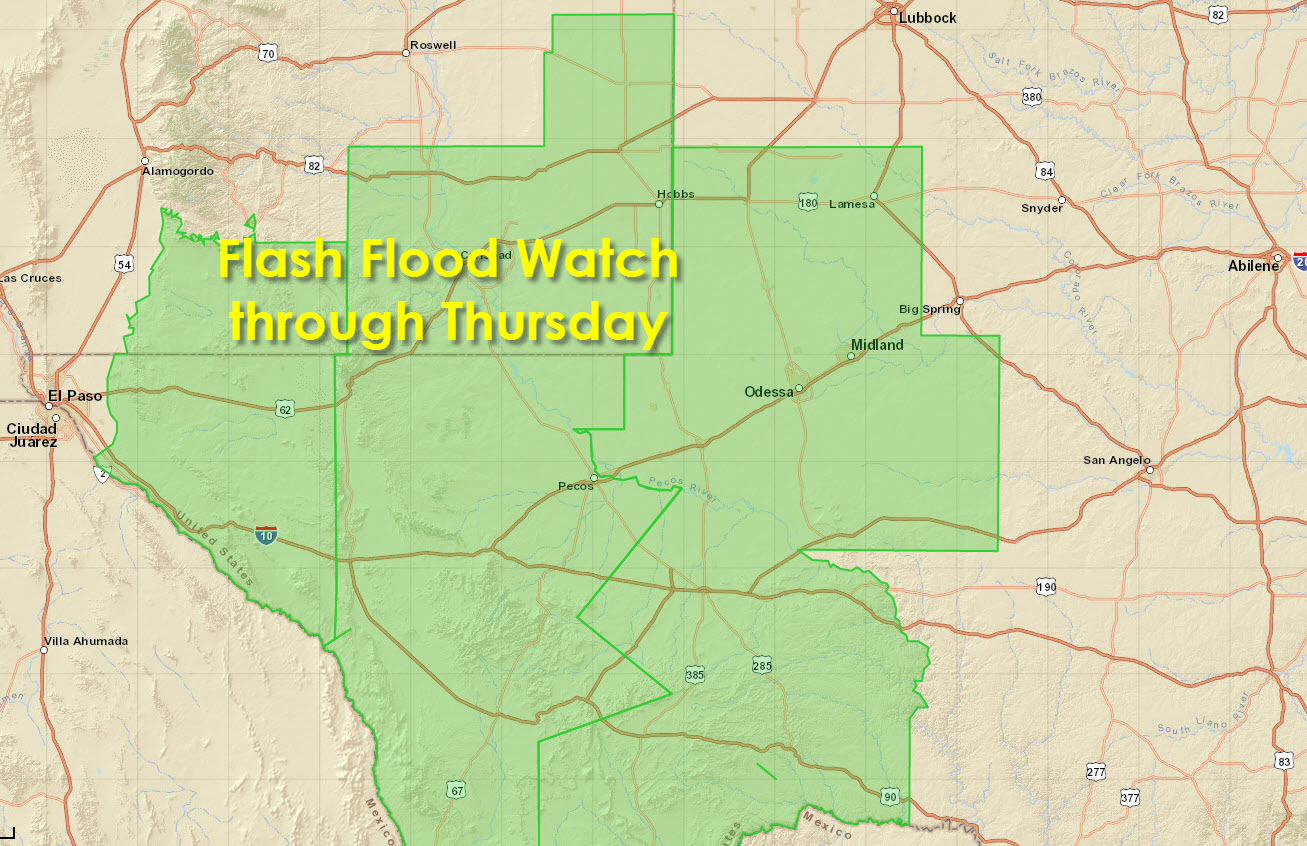 Flash Flood Watch for the Permian Basin