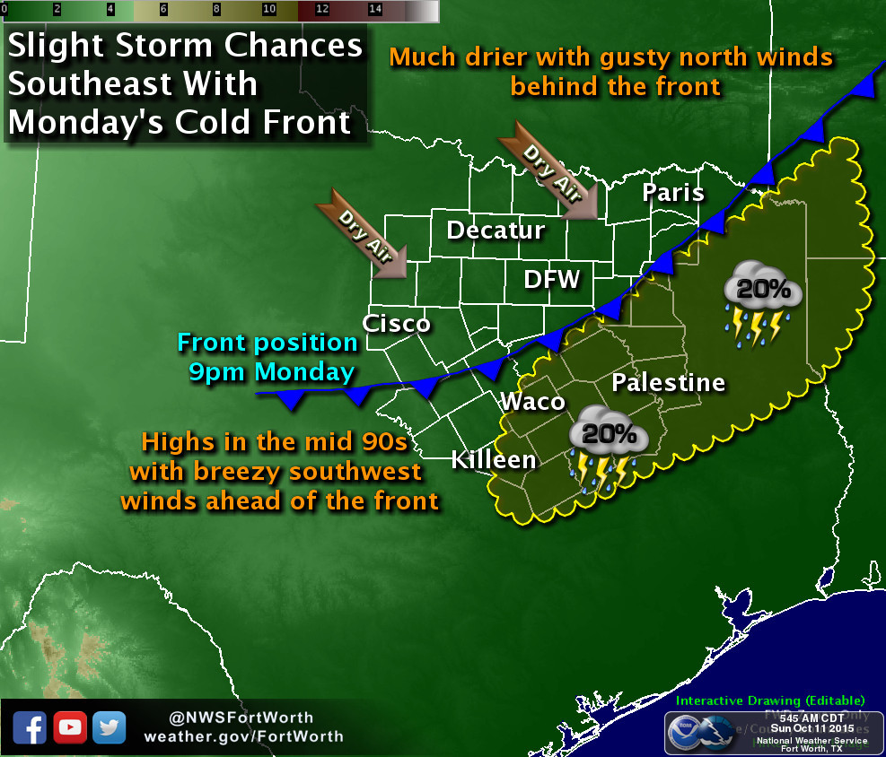 Cold front Monday