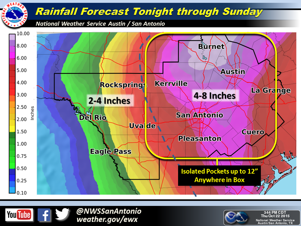 EWX Rainfall Forecast