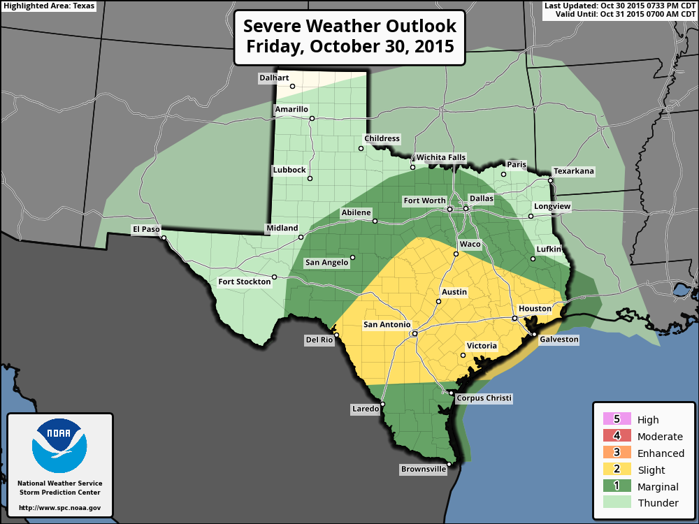 Overnight severe weahter outlook