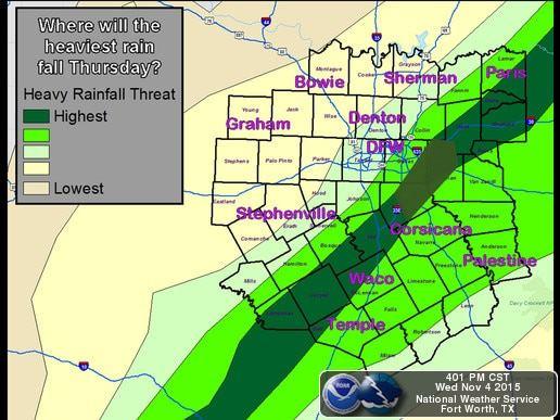 FWD Rain Thursday