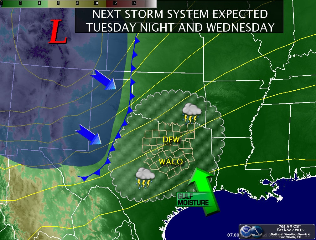 Next Storm Tues - Wed