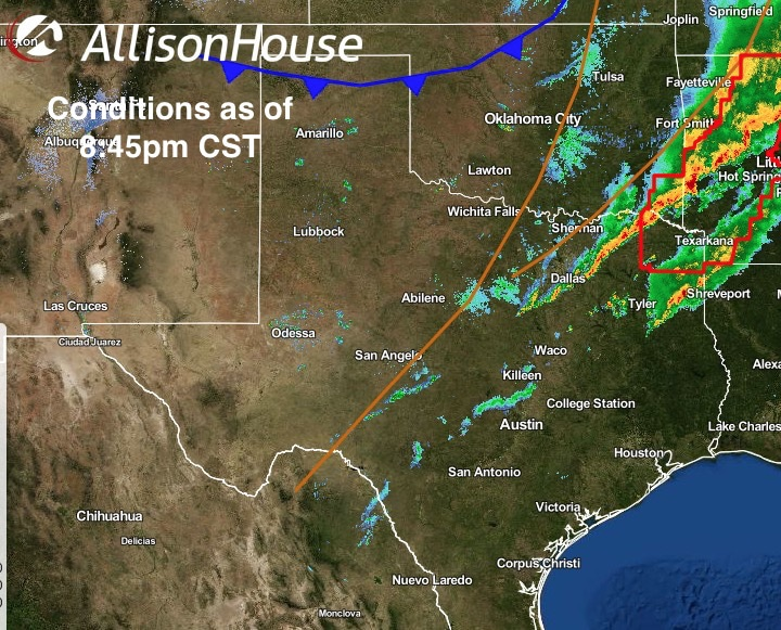 Storms Move East – Cold Front Arrives Bringing Coldest Air Of The Season