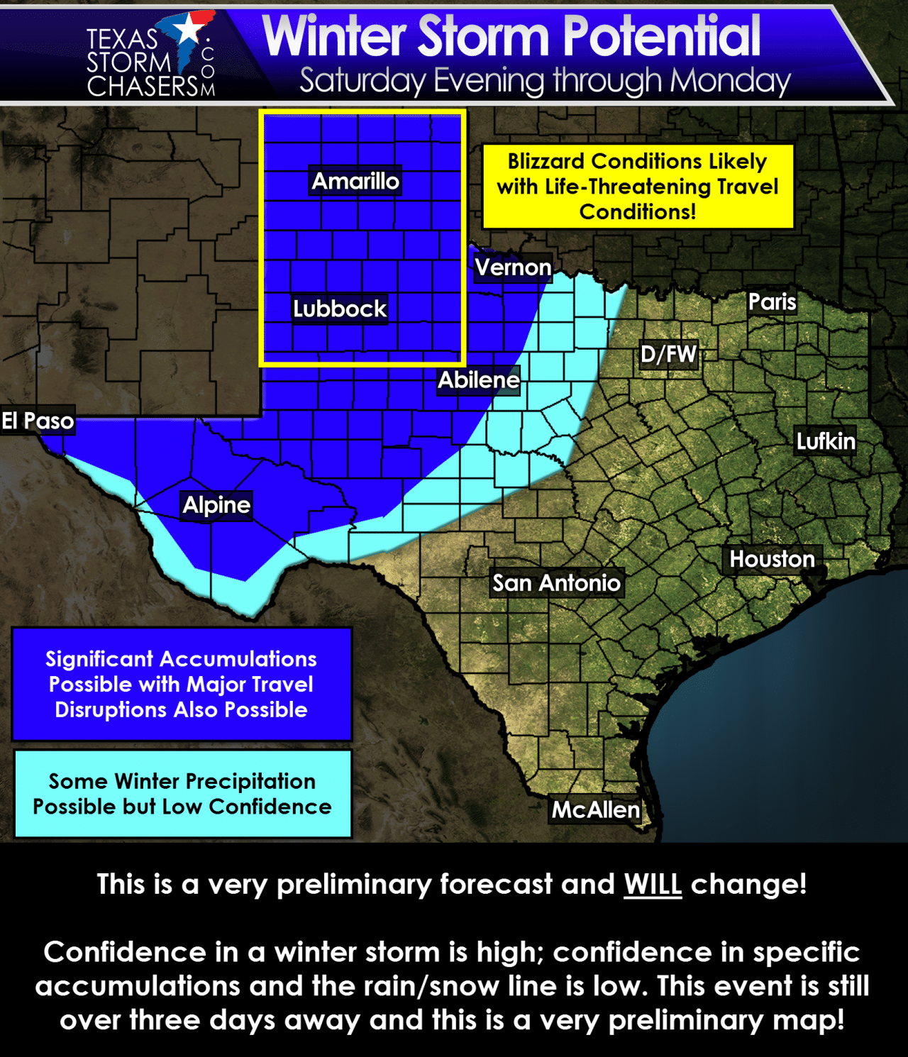 Map Of Texas Storms.A Winter Storm Blizzard Will Slam Parts Of Texas Sunday Monday