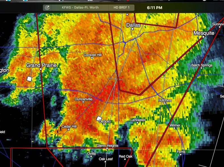 Confirmed Large TORNADO in DeSoto area – Heading North at 40mph