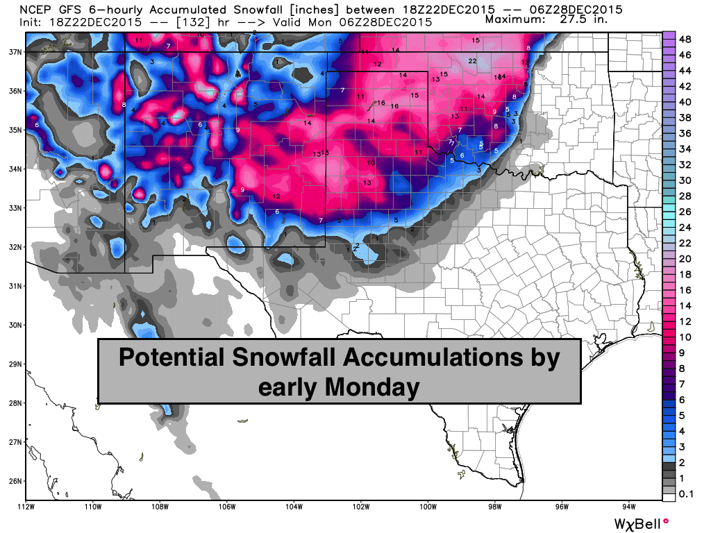Significant Winter Storm Likely This Weekend – Panhandle/Western TX