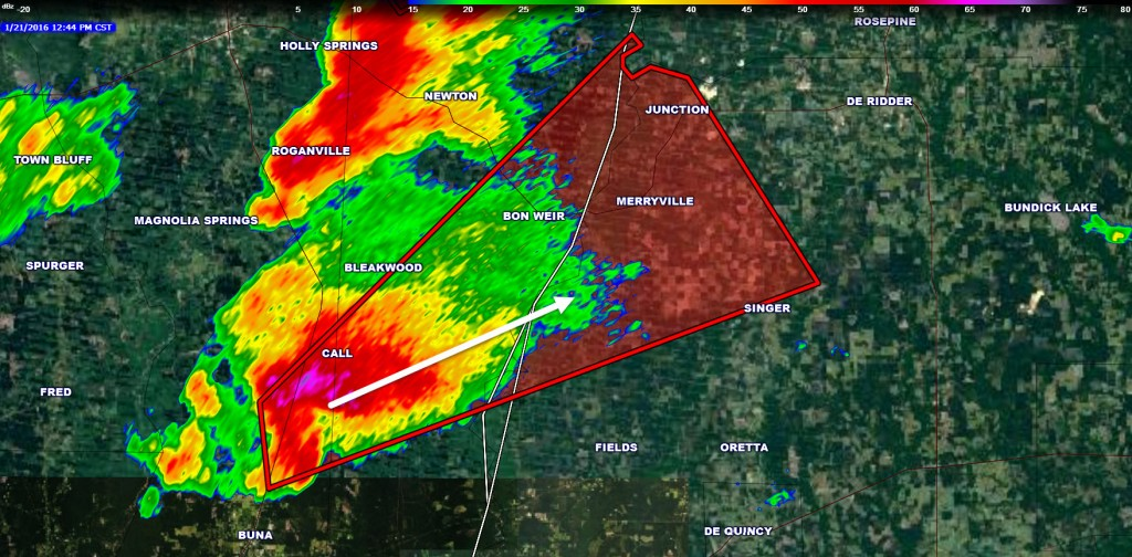 Tornado Warning: Newton County & Beauregard Parish (LA ... Beauregard S