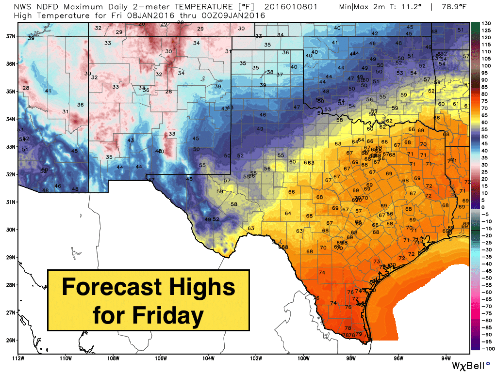 Friday's Highs