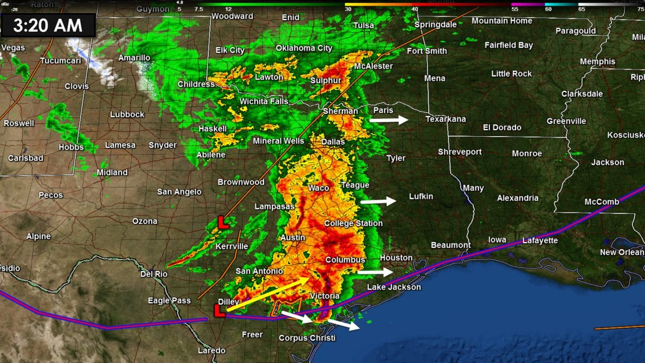 Widespread Rain and Storms Continues This Morning