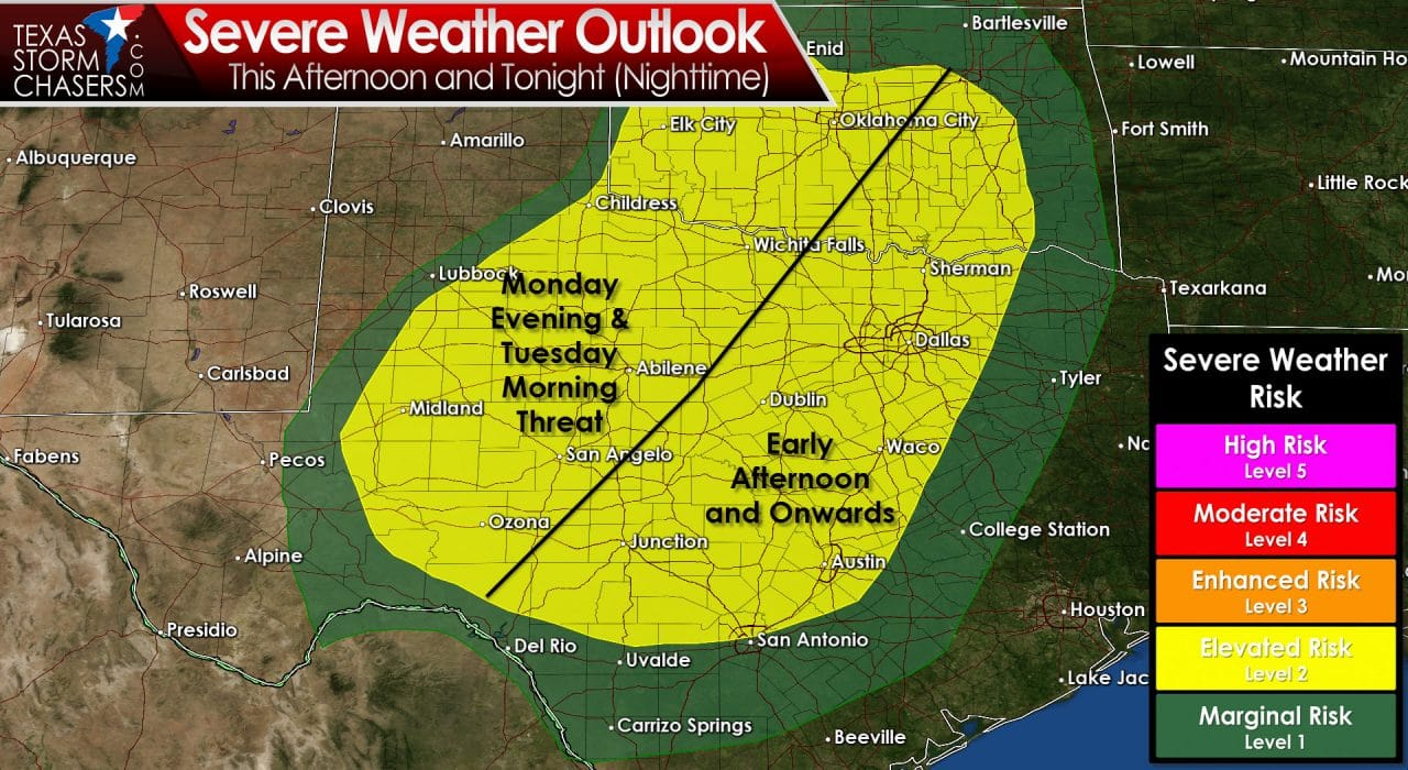 11:30 AM Situation Update; Severe Risk Increases Overnight in Big Country & NW TX
