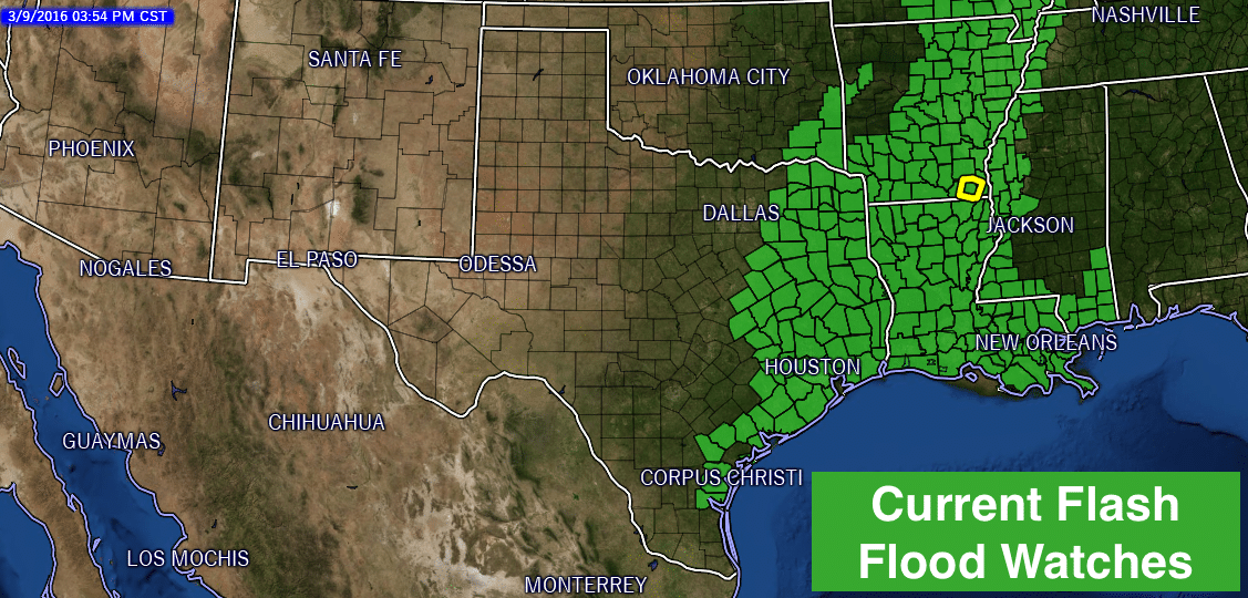 Flash Flood Watches Currently