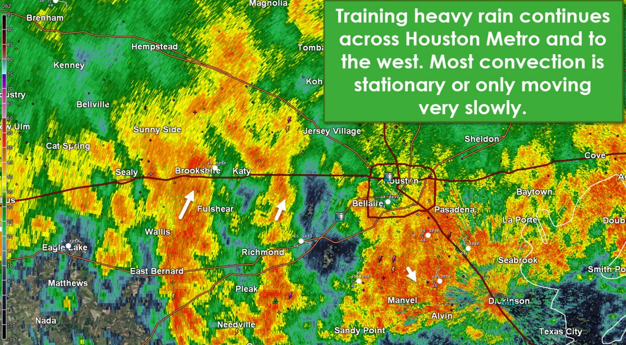 Life-threatening and extremely dangerous flood event underway in/west of Houston