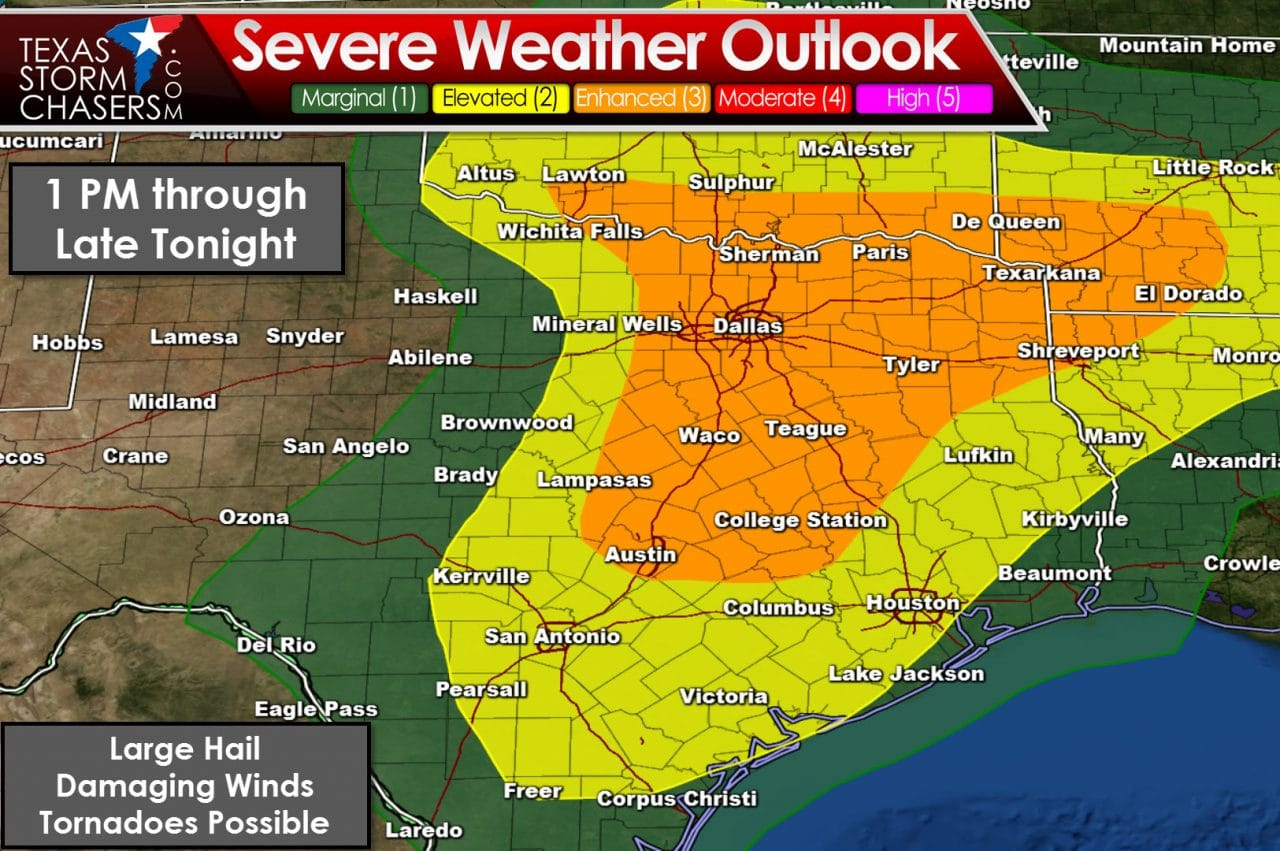 Numerous Severe Storms with Tornadoes Possible Today!