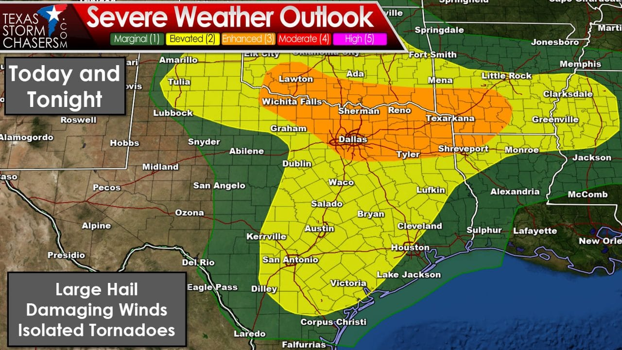 Complex Forecast with Severe Storms Likely This Afternoon and Evening