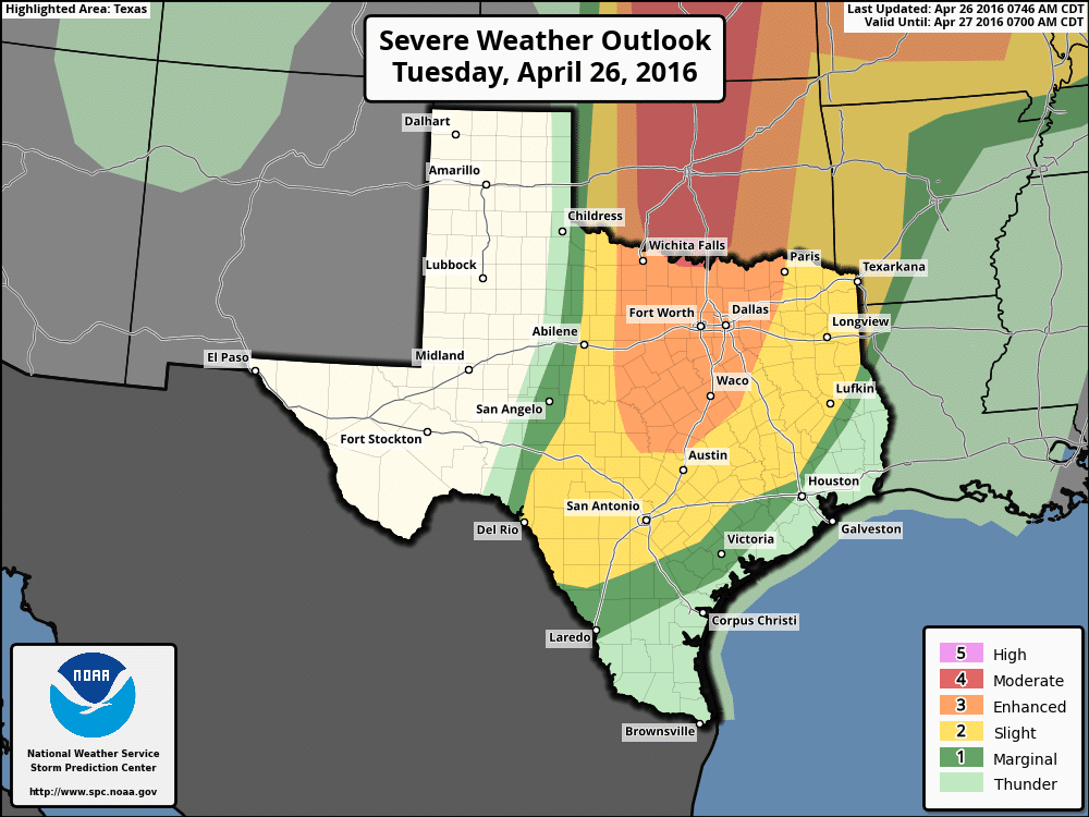8:50am Tuesday Severe Weather Update – North and Central TX
