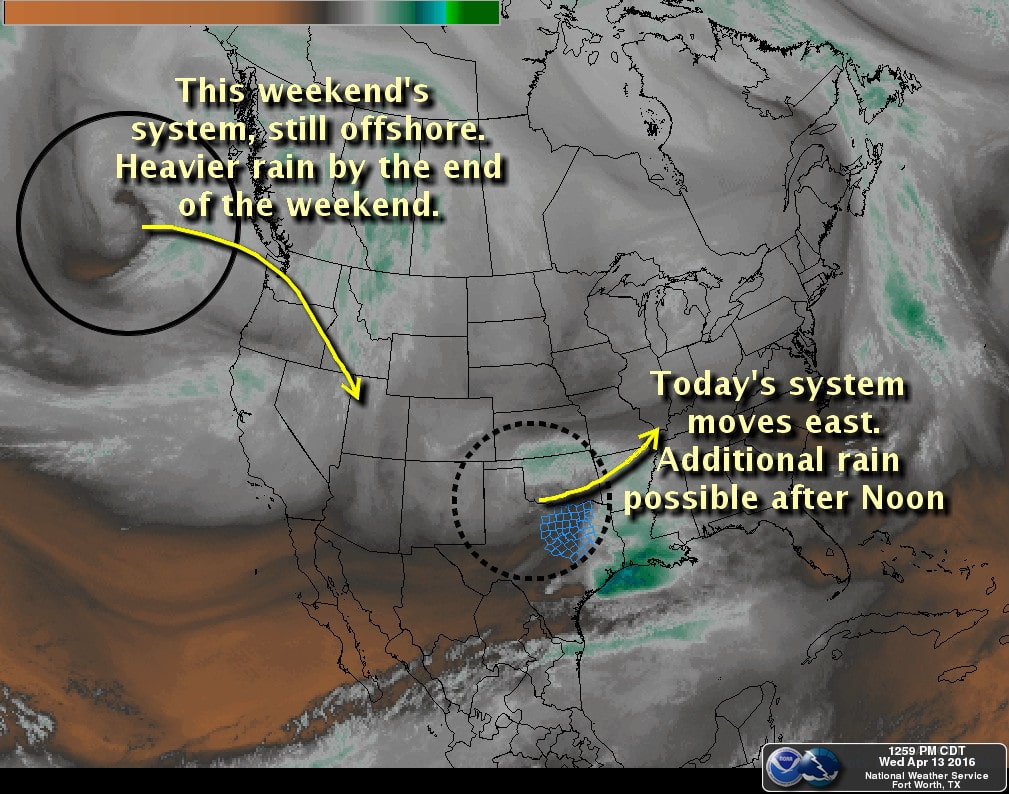 Your Overnight Forecast + Widespread Rain Chances Increasing for the Weekend
