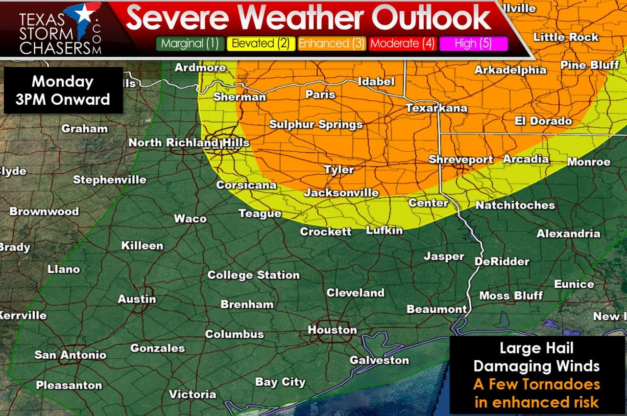 Enhanced Severe Weather Risk in Northeast Texas Tomorrow