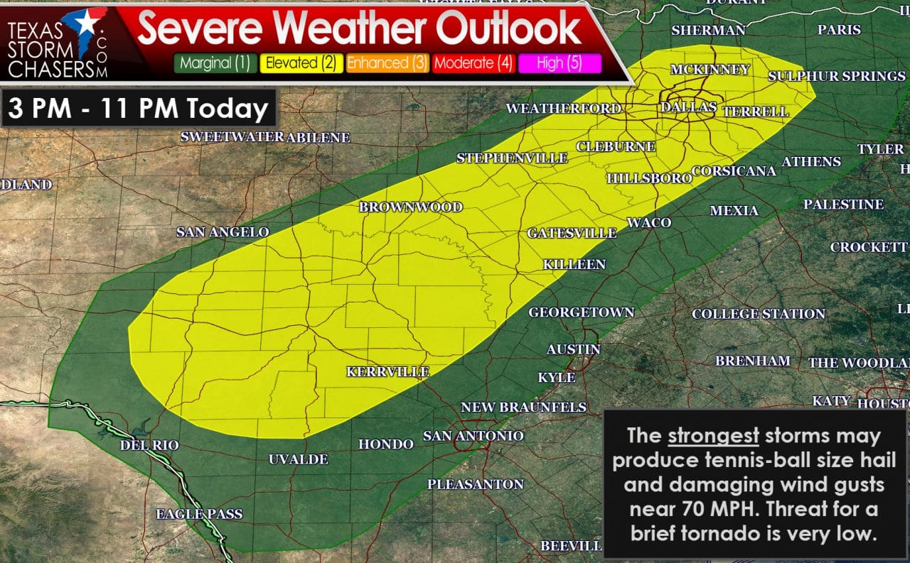 Severe Storm Risk Every Afternoon/Evening through Friday