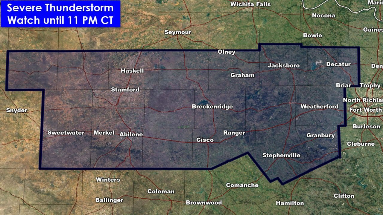 4:40PM Severe Weather Update – Severe Storm Watch Issued
