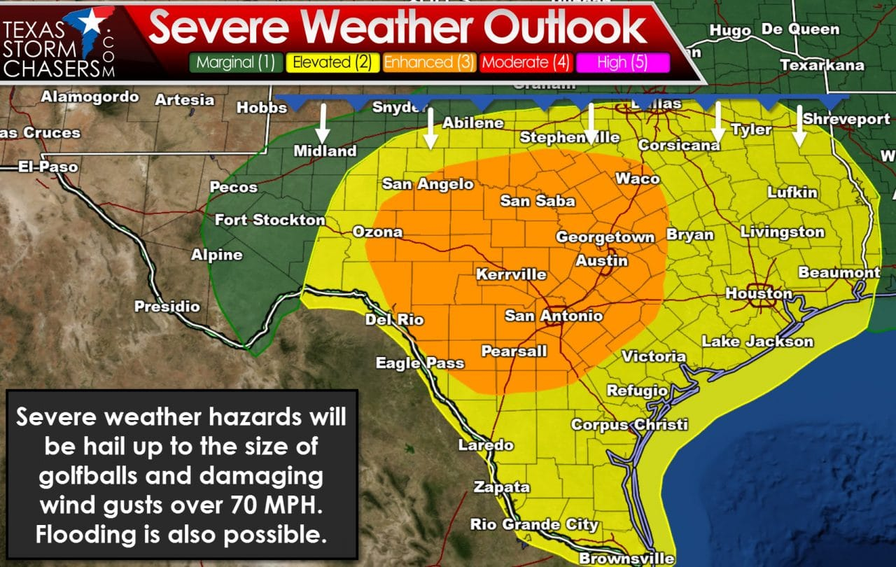 Numerous Severe Storms Possible Tomorrow