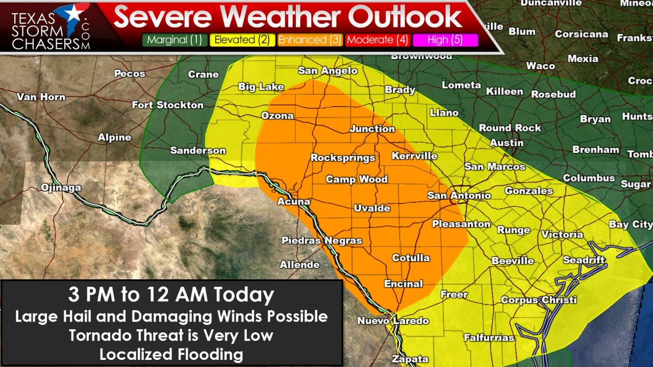 A few changes to the severe weather forecast
