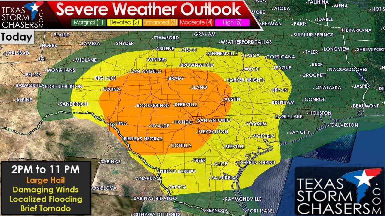 Mid-Morning Forecast on This Afternoon's Severe Weather Potential