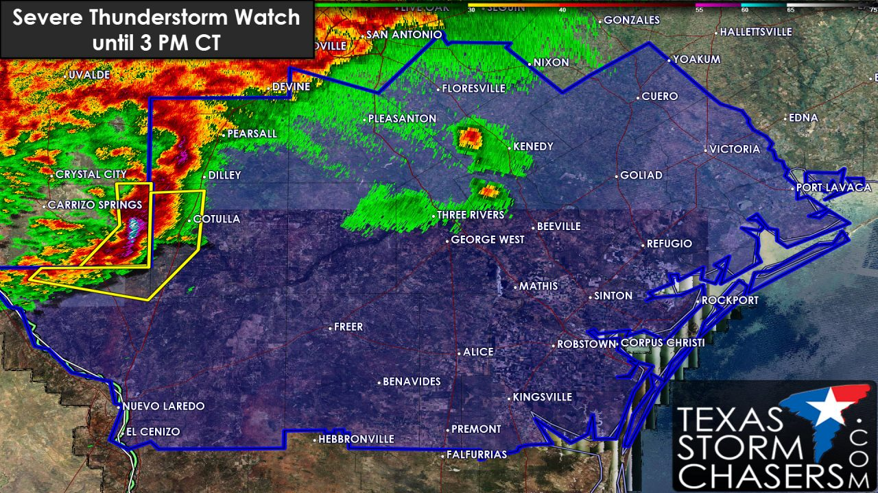 Severe Thunderstorm Watch for South Texas until 3 PM CT