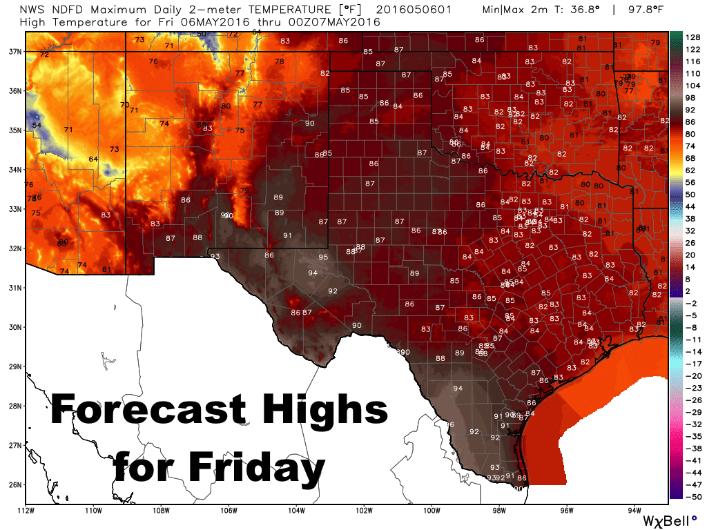 Rain and Storm Chances Increase in Western Texas Tomorrow