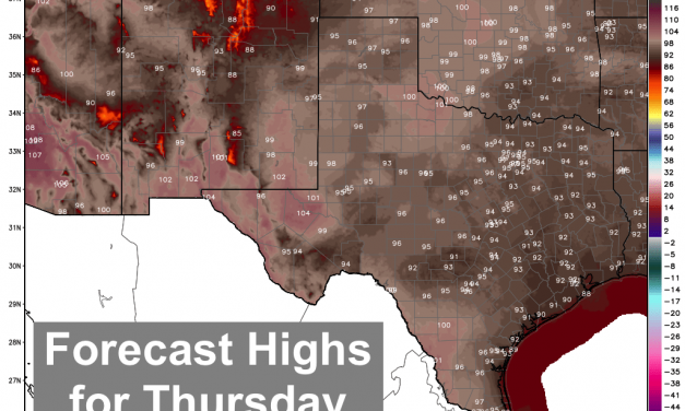 Hot and Mostly Dry for Thursday