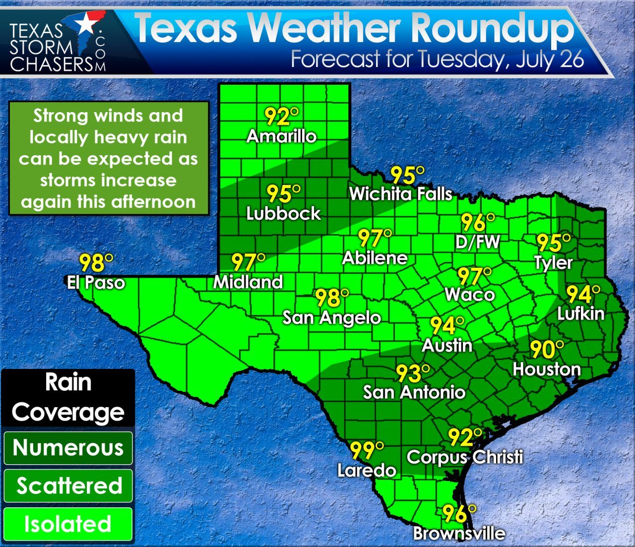 Map Of Texas Storms.More Popup Storms This Afternoon Texas Storm Chasers
