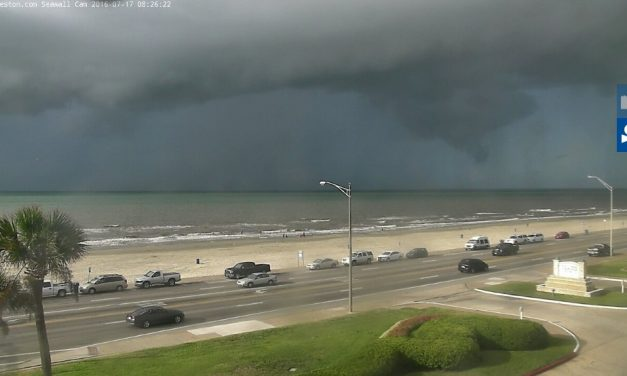 Waterspout Moving Ashore in Galveston