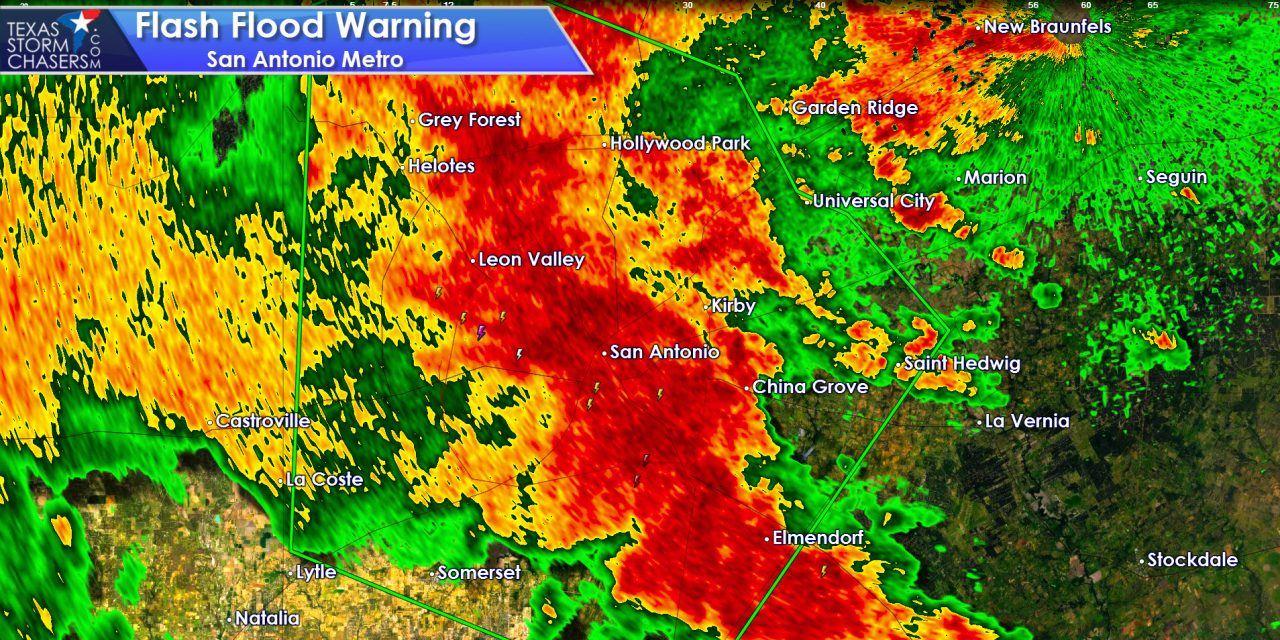 Flash Flooding Increasing in San Antonio Metro – Rough Morning Rush Hour Ahead!