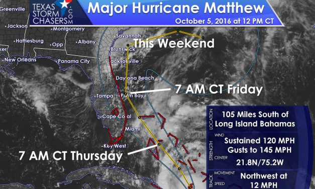 Powerful Hurricane Matthew Heading toward Southeast/East Florida