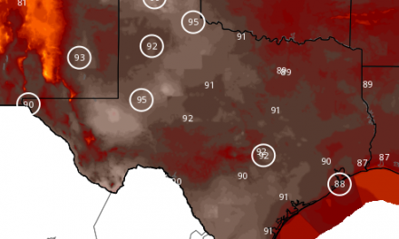 Record Heat through Tuesday; Strong Cool Front for ALL of TX Thursday/Friday