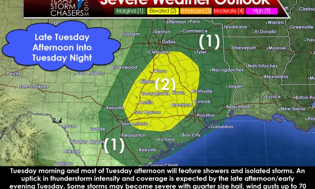 Some Severe Storms Possible Late Tuesday & Tuesday Night