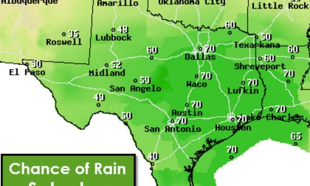 Isolated Storms in E TX Today; Cold & Wet Statewide This Weekend
