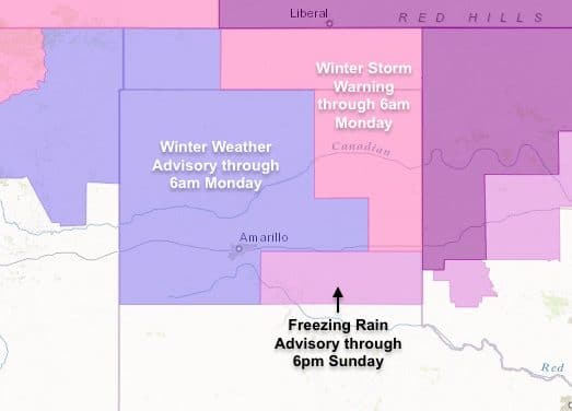 Winter Weather Threats Continue Across the Texas Panhandle