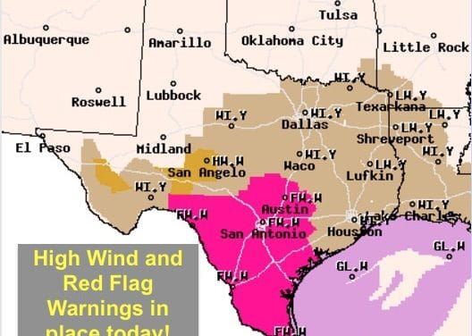 Windy & Dry Today – Period of Quiet Weather Returns