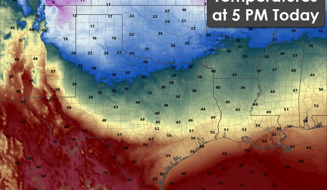 Colder Air Arriving Today; Snow in the Panhandle Tonight